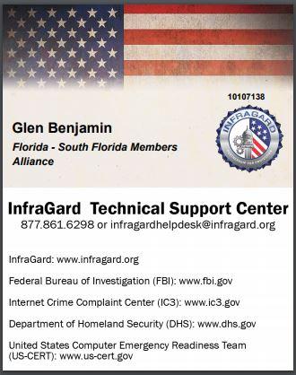 Glen Benjamin_Infraguard_Membership Card